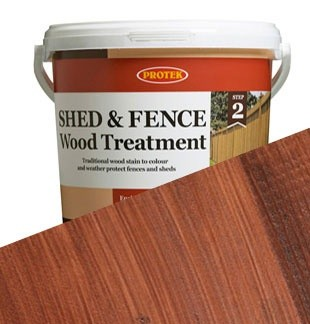 Protek Protek Shed & Fence Wood Stain & Protect Treatment Waterproof  Finish 5L