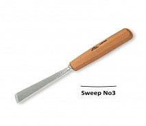 Stubai Stubai 20mm Straight Flat Carving Gouge No3 Sweep