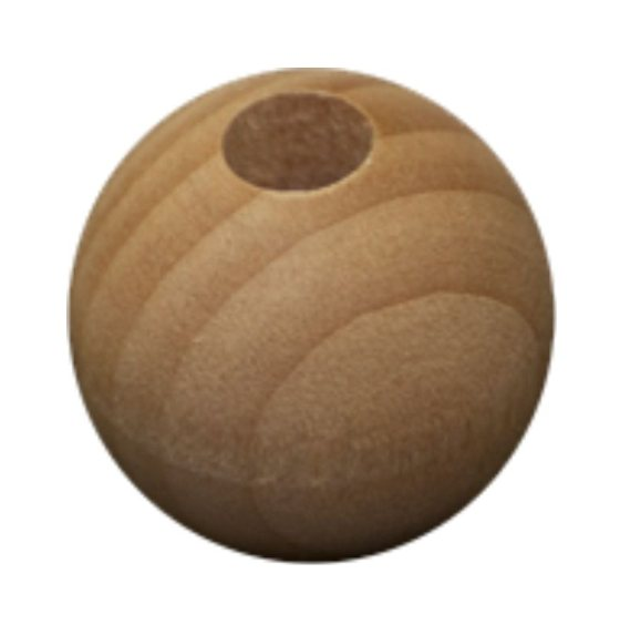 Yandles 1 1/4' (32mm) Round Wooden Bead