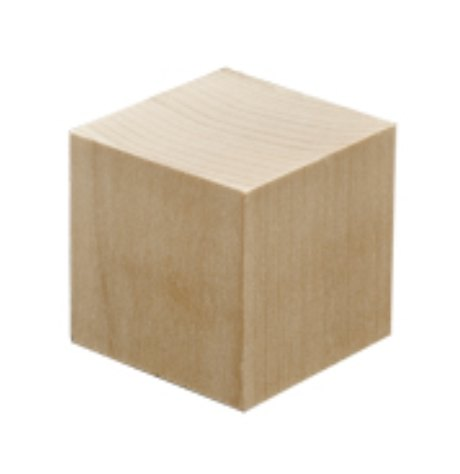 Yandles 1 3/4' (44.5mm) Hardwood Cube / Block