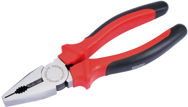 Draper 200mm Heavy Duty Combination Plier with Soft Grip Handle