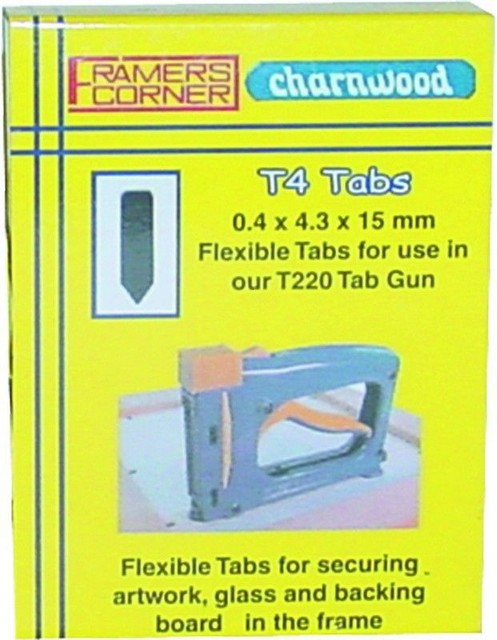 Framers Corner Charnwood T4R Rigid Tabs for T220 & T225, Pack of 2500pcs