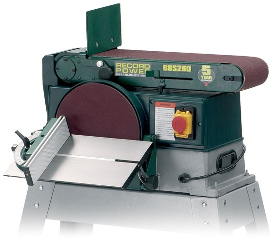 "Record Power Record Power BDS250 Belt(6"") & Disc(10"") Sander, 750W, 240V"