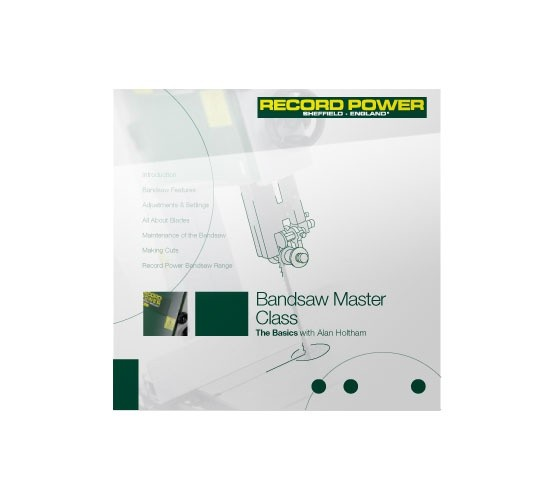 Record Power RECORD POWER DVD (BANDSAW MASTERCLASS - THE BASICS  WITH ALAN HOLTHAM)