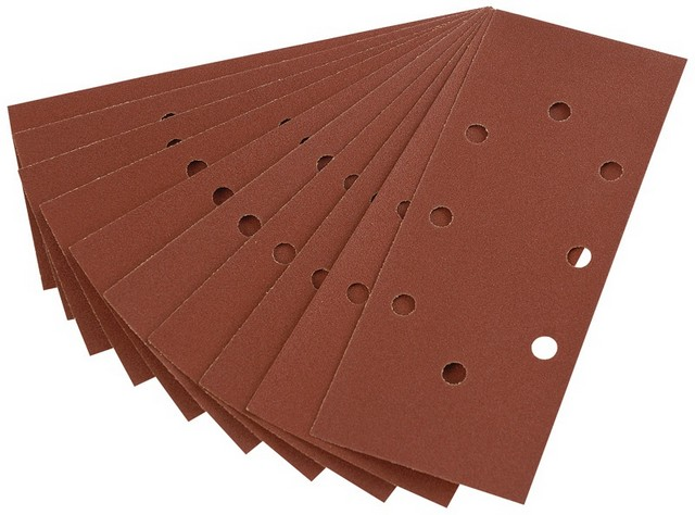 Draper DRAPER Ten 230 x 92mm 120 Grit Aluminium Oxide Sanding Sheets for 63128 Random Orbit Sander