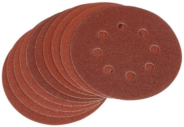 Draper DRAPER Ten 125mm 80 Grit Hook and Loop Sanding Discs