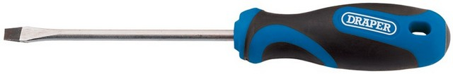 Draper DRAPER 5.0 x 100mm Soft Grip Plain Slot Screwdriver