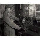 Saw Doctor sharpening the same bandsaw blades as we still use today