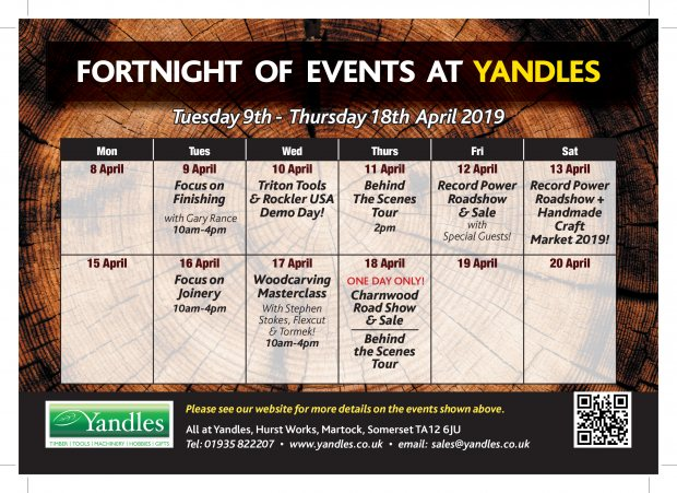 FORTNIGHT OF EVENTS AT YANDLES