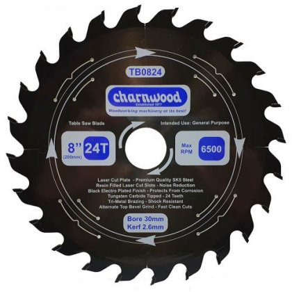 Charnwood High Quality Table Saw Blades