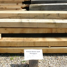 Yandles Fresh Sawn Oak Sleepers Hardwood & Untreated Railway Style