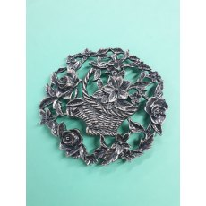 flower basket pewter lid