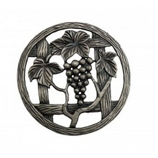 Grapevine pewter lid