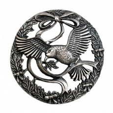 Bird and Bow Pewter Lid