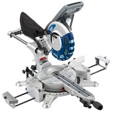 DRAPER 250mm 2000W 230V Double Bevel Sliding Compound Mitre Saw with Laser Cutting Guide
