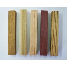 Yandles Exotic & Native Wooden Pen Blanks x5
