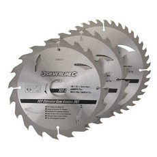 TCT Circular Saw Blades 20, 24, 40T 3pk                                180 x 30 - 20, 16mm rings