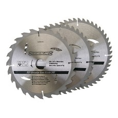 TCT Circular Saw Blades 24, 40, 48T 3pk                                205 x 30 - 25, 18, 16mm rings