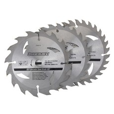 TCT Circular Saw Blades 16, 24, 30T 3pk                                135 x 12.7 - 10mm ring