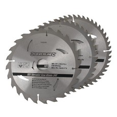 TCT Circular Saw Blades 24, 40, 48T 3pk                                200 x 30 - 25, 18, 16mm rings