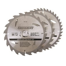 TCT Circular Saw Blades 20, 24, 40T 3pk                                184 x 30 - 20, 16mm rings