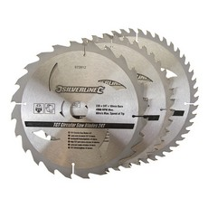 TCT Circular Saw Blades 24, 40, 48T 3pk                                235 x 30 - 25, 16mm rings