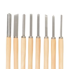 Wood Turning Chisel Set 8pce