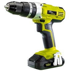 DRAPER Storm Force Cordless Hammer Drill with Two 18V 1.5Ah Li-ion Battery