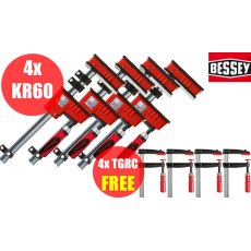 Bessey KR60 Quad Pack Package Deal C/W 4 x TGRC20B8 FREE!