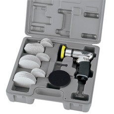 DRAPER Expert 50/75mm Compact Dual Action Soft Grip Air Sander Kit