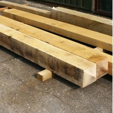 Fresh Sawn Oak 4 Way Top Gate Posts 125mm x 125mm x 2.4m
