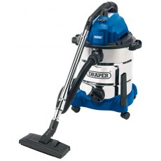 Draper 30L 1400W Wet and Dry Vacuum Cleaner Integrated 230V Power Socket