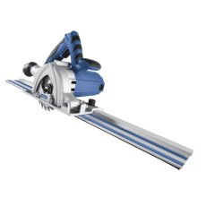115 MM MULTI-APP PLUNGE SAW C/W 2 X 600 MM RAILS + 4 X BLADES