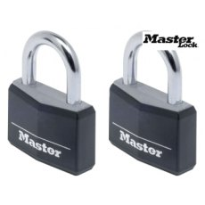 Aluminium 40mm Padlock 4-Pin - Keyed Alike x 2