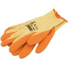 Orange Heavy Duty Latex Coated Work Gloves - Extra Large