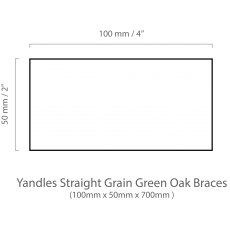Straight grain green oak brace 50mm x 100mm x 700 mm