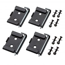 Quick-Release Workbench Caster Plates 4pk 70 x 95mm (2-3/4 x 3-3/4'')