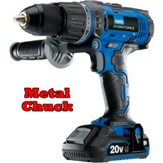 Storm Force 174 20V Cordless Hammer Drill with Two Li-ion Batteries