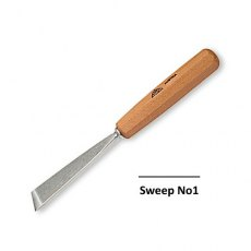Stubai No1 Sweep 8mm Skew Flat Carving Tool