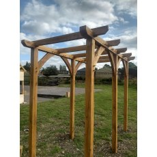 100mm oak pergola with braces