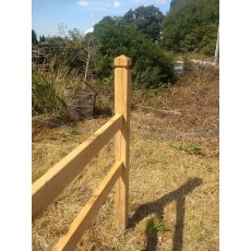 Build your own oak post and rail fence