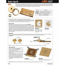 CMT Full Inlay Kit With Universal Un-Drilled Router Base Plate & 1/8 Spiral Bit!