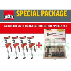 Bessey KRE100-2k Quad Pack Deal Body Clamps 4pk C/W Famag 7pce Set!