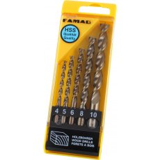 Famag Brad point drill bit, HSS-G, set of 8 pcs 3-4-5-6-7-8-9-10 mm, in plastic box