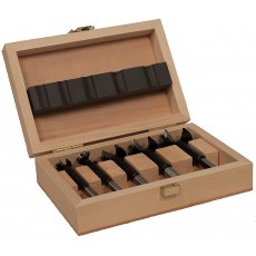 Famag Bormax 2.0 Forstner bit, set of 5pcs 15,20,25,30,35mm in wooden box