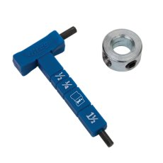 Kreg® Easy-Set Stop Collar & Material Gauge/Hex Wrench Kit