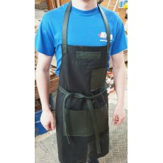 Yandles Classic Handmade Black Wax Canvas & Leather Apron with Pockets (no hardware)