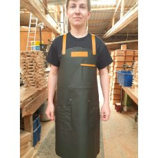 Yandles Premium Handmade 100% Leather Apron with Tan Trim & Pockets
