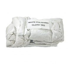 Fiddes 100% White Cotton Polishing Cloth 1KG