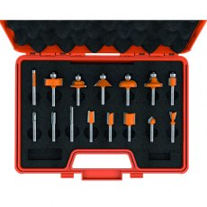 CMT 15-Piece Router Bit Set Hw S=6,35